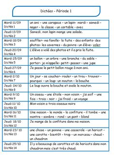 dictées 2012-2013 pour les CE1/CE2