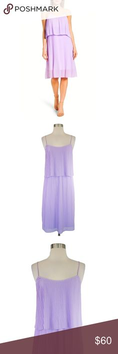 23c4326a8092 Felicity and Coco Lilac Pleated Midi Slipdress L Felicity and Coco Pastel  Lilac Pleated Spaghetti Strap