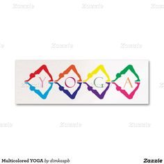 Multicolored YOGA Mini Business Card Cards Visit Carte De Visite