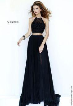 Sherri Hill Two Piece Halter Top Dress 32109