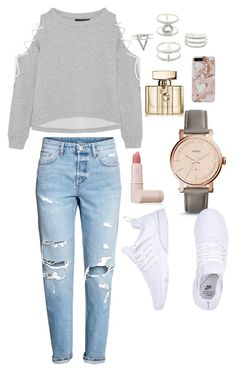 """""""Untitled #8"""" by mariahdoola on Polyvore featuring W118 by Walter Baker, Lipstick Queen, FOSSIL, NIKE, Charlotte Russe and Gucci"""