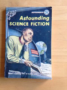 Vintage Astounding Science Fiction Pulp Magazine September 1957 An attractive copy of the British Edition of Astounding Science Fiction, one of the leading Science Fiction magazines edited by John W. Campbell. September 1957and containing stories by Randall Garrett & Isaac Asimov. With illustrations. Slight wear & slight creasing to spine, covers & corners   https://nemb.ly/p/BkmusxjMg Happily published via Nembol