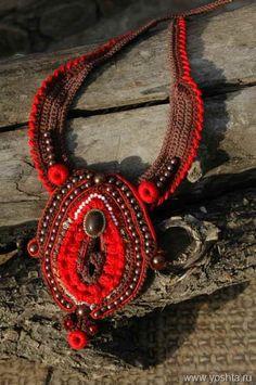 crochet freeform necklace