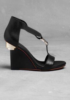 & other stories wedge heel sandals