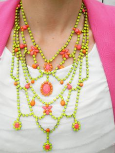 The Most AMAZING Bib Necklace Ever Vintage 1950s by LoveObsessed, $395.00