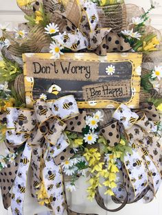 Bumble Bee Mesh Spring and Summer Wreath by WilliamsFloral on Etsy https://www.etsy.com/listing/285791667/bumble-bee-mesh-spring-and-summer-wreath