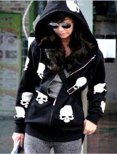 Skull hoodie... Cute!