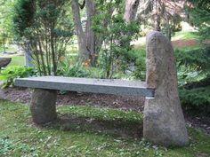 Stone (Grey) Age Creations BE-BO-2A Custom Granite Stone Boulder Sideleg Bench