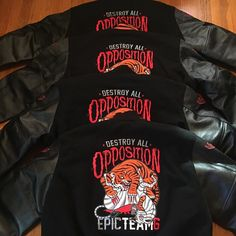 "This is what it looks like when you get those orders in and push that product out!!! Some people said it would be too and expensive and nobody would buy it but when you produce a quality product and pay attention to detail people will always spend their money. Thank you to everybody who put their orders in for our ""Destroy All Opposition"" jackets. If you didn't receive your delivery date our next shipment is November 23rd! #epicteam6 #clothing #culture #independent #brand #urban #street #nyc…"