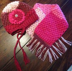 Puff Stitch Hat crocheted by © maximumfx from a free crochet pattern by B Hooked Crochet with modifications as noted on her project page. The yarn used was Caron Cakes Cherry Chip