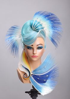 Astounding! Fantasy hair competition hairstyle and hair color by beauty school student Bora Lee. #hotonbeauty fantasy hair avant-garde hair fb.com/hotbeautymagazine