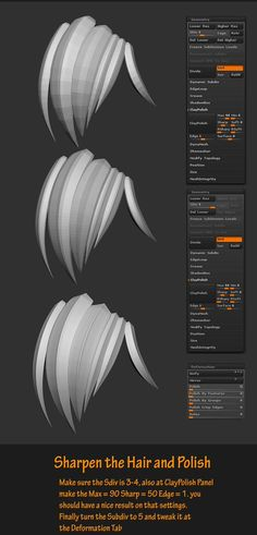 """""""here's my lazy method on creating a stylized hair. here's my quick tutorials feel free to share! #zbrush #tutorials"""""""