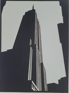 """Empire Black linocut by Paul Catherall"" Here or on Art on Paper both work. I am here now."
