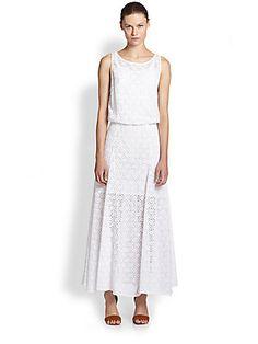 Rebecca Minkoff Dina Lace Low-Back Maxi Dress