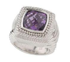 Amethyst Cushion Cut Ring J0109