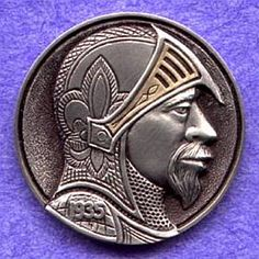 STEVE ADAMS HOBO NICKEL - KNIGHT - 1935 BUFFALO PROFILE
