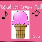 "Musical Math activity with an ""Ice Cream"" theme!..."