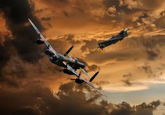 Lancaster and spitfire created using my own aircraft photos