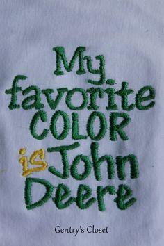 Baby Boy Onesie  My Favorite Color is John Deere  by gentryscloset, $18.00