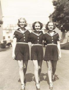 """Three Smart Girls"" screen sisters Nan Grey,Deanna Durbin and Barbara Read"
