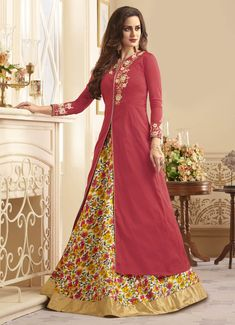 buy latest lehenga choli designs for party, wedding, marriage, reception or any events. Order now! This baronial embroidered work designer lehenga choli. Long Choli Lehenga, Lehenga Gown, Lehenga Choli Online, Anarkali Suits, Designer Bridal Lehenga, Indian Bridal Lehenga, Ethnic Trends, Indian Gowns Dresses, Choli Designs