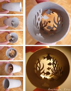 Anastassia Elias, made from toilet paper rolls. Toilet Paper Roll Art, Rolled Paper Art, Toilet Paper Roll Crafts, Cardboard Crafts, Cardboard Tubes, Anel Tutorial, Paper Cutting, Cut Out Art, 3d Paper