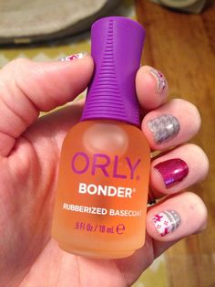 Got some thick sparkle and metallic wraps that just don't hold down well enough? Getting lifting within several days time? Orly Bonder has made a huge difference for me! The rubberized base coat holds those wraps down tight. Contact me if you're going to try this method! You're going to want to hear the additional tips and tricks for getting it to work. http://aubreymueller.jamberrynails.net