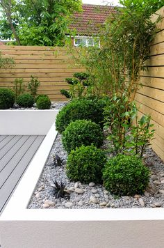 Small, low maintenance garden: minimalistic Garden by J B Landscapes LTD 18 Splendid Front Yard Landscaping Ideas and Garden Design Backyard Fences, Front Yard Landscaping, Landscaping Ideas, Backyard Ideas, Fence Ideas, Fence Garden, Bed Ideas, Patio Ideas, Landscaping Edging