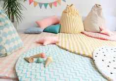 Nobodinoz rugs, pillows and toys