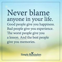 No blaming