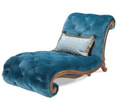 This peacock velvet armless chaise would be perfect seating for a library sofa and chaise lounge set Gone are the days when decorating was a. Settee, Sofa Chair, Style Boudoir, Cool Furniture, Furniture Design, Fainting Couch, Peacock Decor, Peacock Blue, Teal Blue