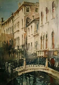 Jacek Jaroszewski - Venice- watercolour 50x33 cm, 2015