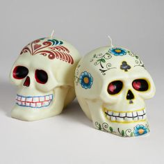 A reason to put out all of my adorable skull decor. Los Muertos Skull Candle #MyVSFallEdit