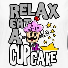 Relax with Cupcake   S*D - SanDra*s Textil Design, Frauen Premium Langarmshirt Klassisches Langarmshirt für Frauen aus der Spreadshirt Kollektion, 100% Baumwolle, Marke: Spreadshirt