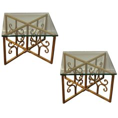 Wrought Iron End Table on Chairish.com
