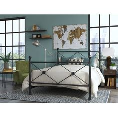 Found it at Joss & Main - Gilded Map Canvas Print