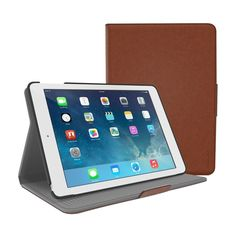 RooCase - Orb Folio Protective Case for Apple® iPad® Air and iPad Air 2 - Brown