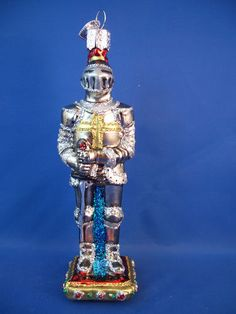 Knight Armor Glass Merck Old World Christmas Ornament 24134 | eBay