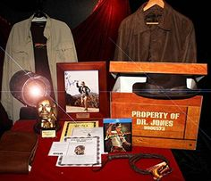 HARRISON FORD Signed AUTOGRAPH, INDIANA JONES PROP Box Set, Leather JACKET, UACC, Blu Ray DVD Set, COA, FERTILITY GOD HEAD, 2016 Amazon Hot New Releases Props  #Collectibles