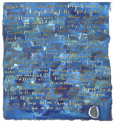 Text Painting: The River Merchant's Wife by Ezra Pound