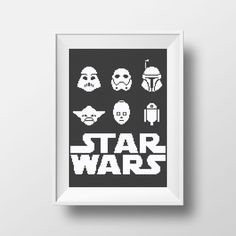 Star Wars Mix Cross Stitch PDF Pattern Yoda Darth by NikkiPattern