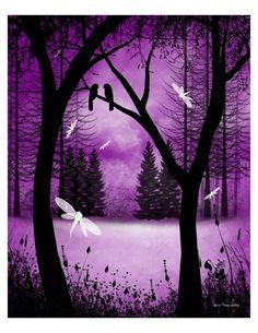 Purple forrest