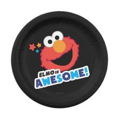 Elmo Awesome Paper Plate  sc 1 st  Pinterest & Elmo Face Art Paper Plate | Party Paper Plates | Pinterest | Elmo