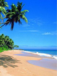 Unawatuna Beach, near Galle, Ski Lanka : a holiday to remember http://www.mysrilankantrip.com/