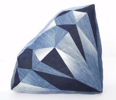 Kussen diamant jeans groot