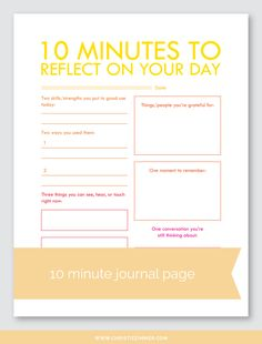 Reflect On Your Day (4) Printable Journal Page — Christie Zimmer