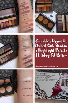 Smashbox Drawn In. Decked Out. Shadow + Highlight Palette Set Review ~ Ablaze Cover Shot, Sultry Cover Shot & Pearl Spotlight Palettes!