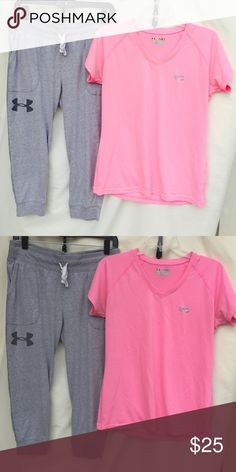 UNDER ARMOUR BUNDLE Both included!! Both size medium!! Both flawless!! Under Armour Tops Tees - Short Sleeve