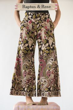 The New R&R PreRaphaelite Garden Trombetta Pant Palazzo Trousers, Harem Pants, Pajama Pants, Vegetable Planting Guide, New R, Short Jumpsuit, Home Outfit, Hippie Boho, Color Mixing