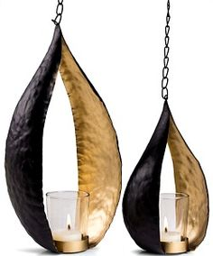 Set of two Teardrop Candle Holders $25